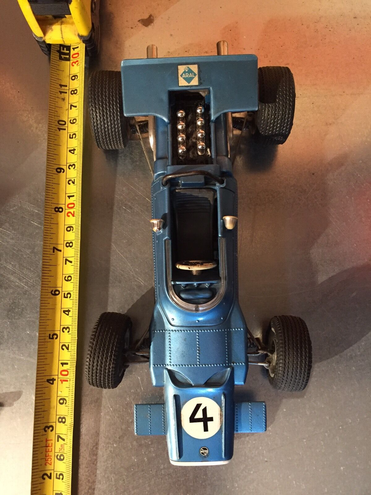 TOY CAR TIN SCHUCO MATRA FORD 1070 MADE IN GERMANY OLD