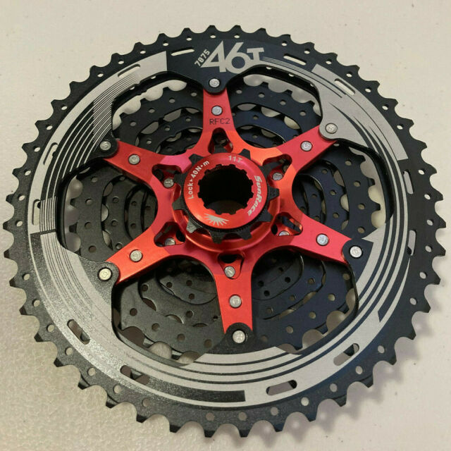 SunRace CSMS3 TAZ 10 Speed Wide Ratio Mountain Bike Cassette 11-46T Black
