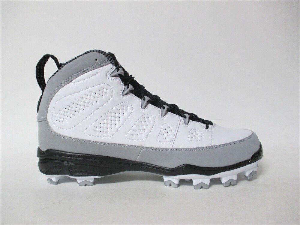 Nike Air Jordan 9 IX MCS Cleats Blanc  Gris  Noir Barons Re2pect 11 AA1264-103