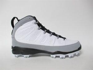 huge discount 2f192 d5ffb Image is loading Air-Jordan-9-IX-MCS-Cleats-White-Grey-