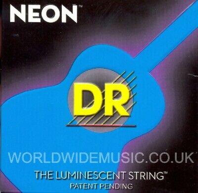 DR NWA-10 Neon WHITE Acoustic Guitar Strings 10-48 lite
