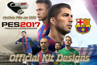 PES 2017 Option File on USB PS4 - Pro Evolution Playstation 4 Official Kits Logo