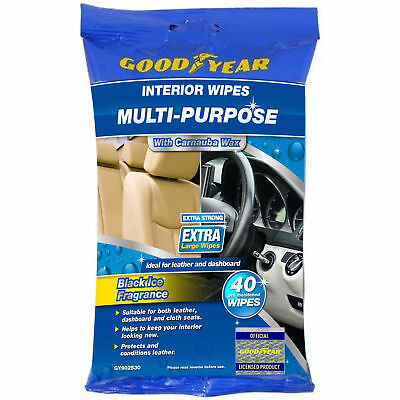 Goodyear Multi-Purpose Car Cleaning Wipes - Leather/PU/Plastic/Window/Windscreen