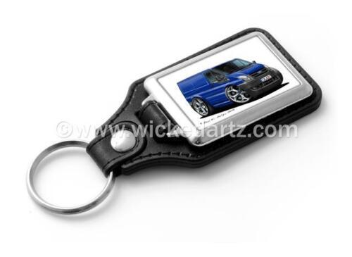 WickedKarz Cartoon Car Ford Transit MK7 Van in Blue Stylish Key Ring