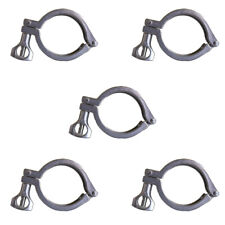 Qty 5 2 Sanitary Tri Clamp Hinged 304 Stainless Steel 2 Inch Clamp