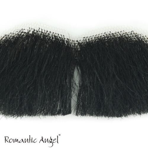 100/% Human Hair Full Hand Tied Fake Mustache Charles Chaplin Handlebar for Drama