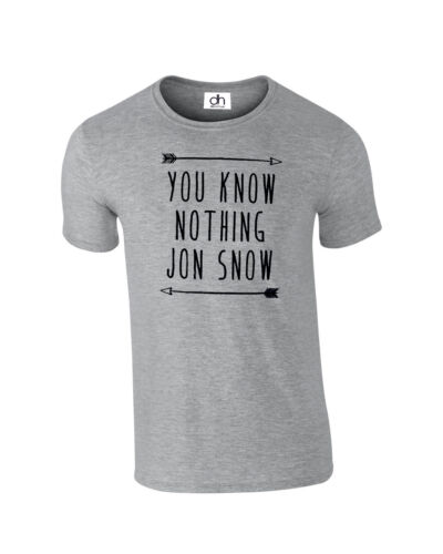 YOU KNOW NOTHING JON SNOW T SHIRT GAME OF THRONES INSPIRED YOU KNOW,TSHIRT