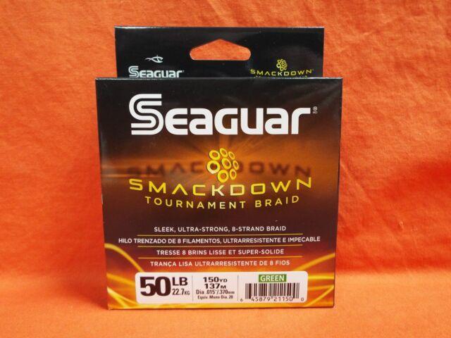 SEAGUAR Smackdown Tournament Braid Fishing Line 50lb (150yd) Green #21150