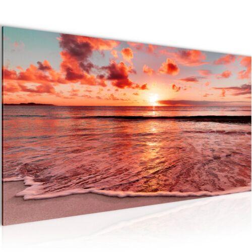 Murales imágenes XXL puesta de sol playa tela imagen del lienzo son impresiones artísticas 6079