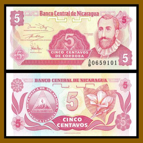 Nicaragua 1 5 10 25 Centavos 4 Pcs Set 1991 P-167-170 First Prefix A Unc