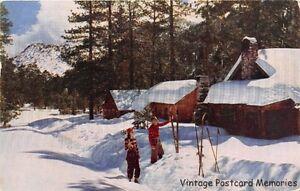 LAS-VEGAS-NV-1954-Mt-Charleston-Lodge-Ski-Scene-VINTAGE-NEVADA-SKI-GEM