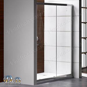 Details about Box doccia nicchia parete cristallo trasparente profili ...