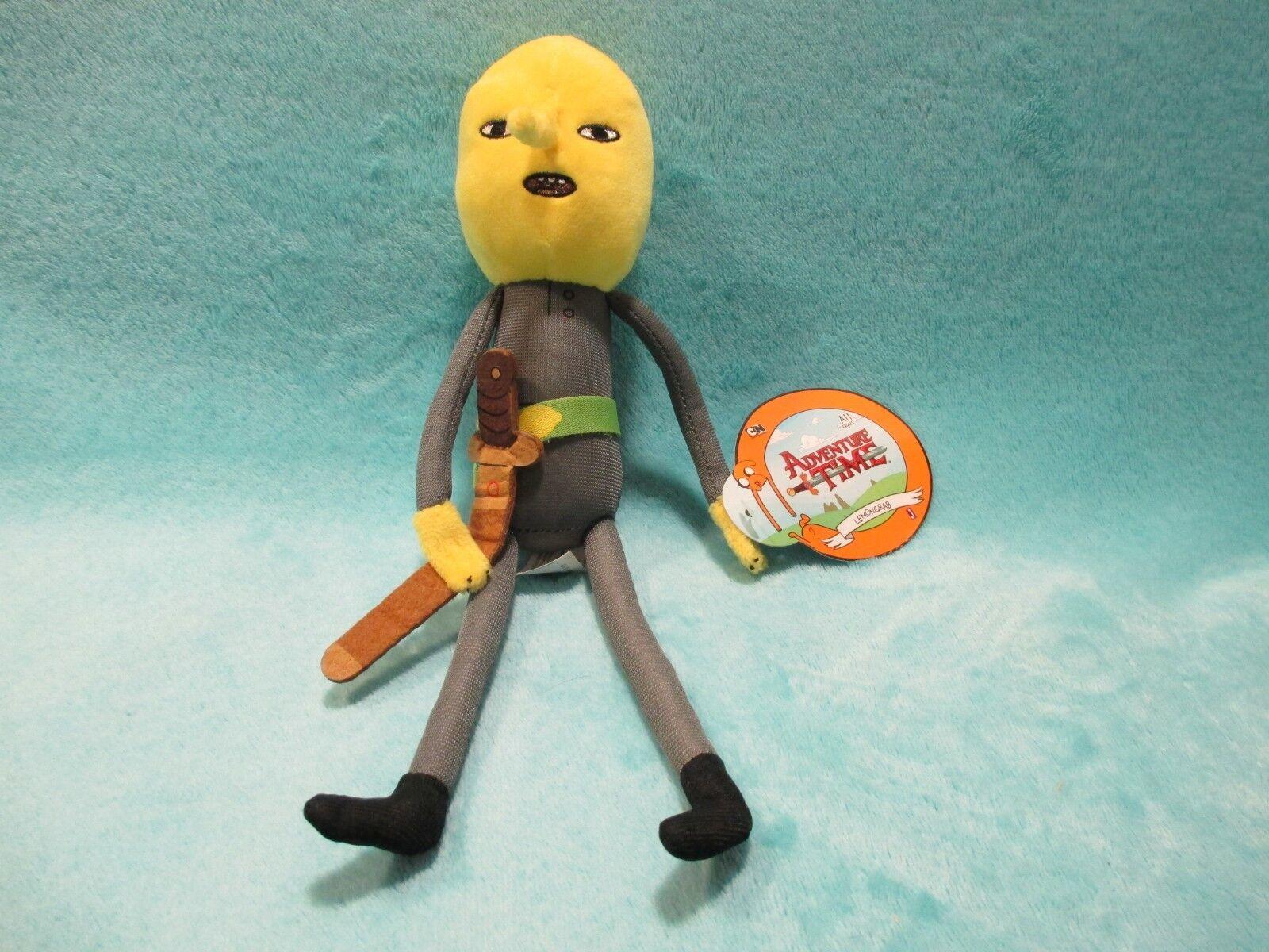BNWT Jazwares Cartoon Network Adventure Time - Lemongrab Plush Soft Toy 11  RARE