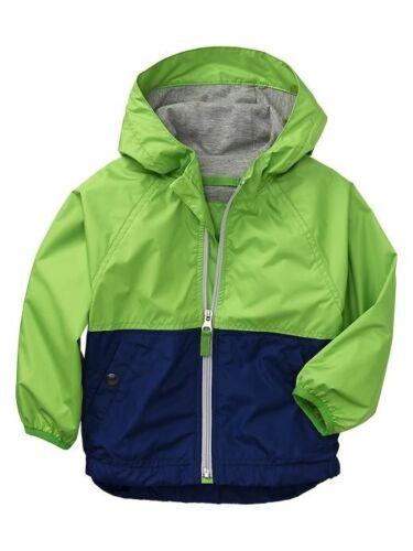 NWT Baby GAP Colorblock Active Jacket Windbuster Windbreaker Water Resistant 2T