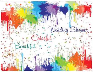 20-Rainbow-WEDDING-SHOWER-Postcards-or-Flat-Cards-Env-Invitations