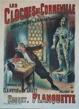 """""""LES CLOCHES DE CORNEVILLE"""" Affiche originale entoilée Litho FARIA 64x85cm"""