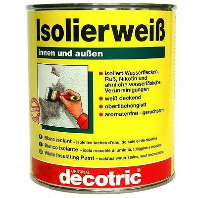 Isoliergrund Sperrgrund Nikotinsperre Isolierfarbe 750 ml 2 Liter
