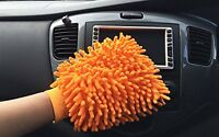12 Jumbo Orange Car Wash Washing Microfiber Chenille Mit Cleaning Glove Us Ship on sale