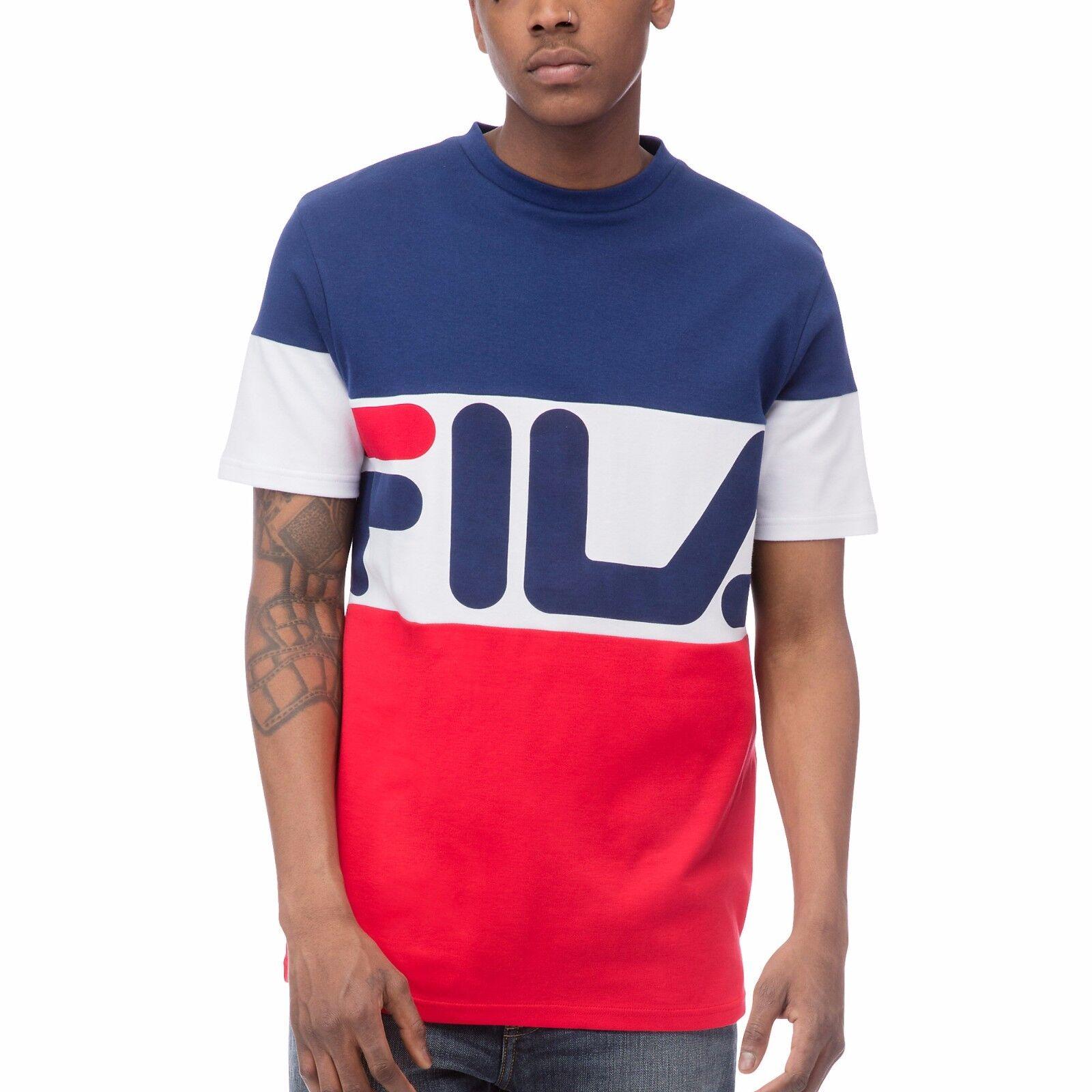 new authentic men fila t shirts graphics vialli tee lm163up1 413 fila logo ebay. Black Bedroom Furniture Sets. Home Design Ideas