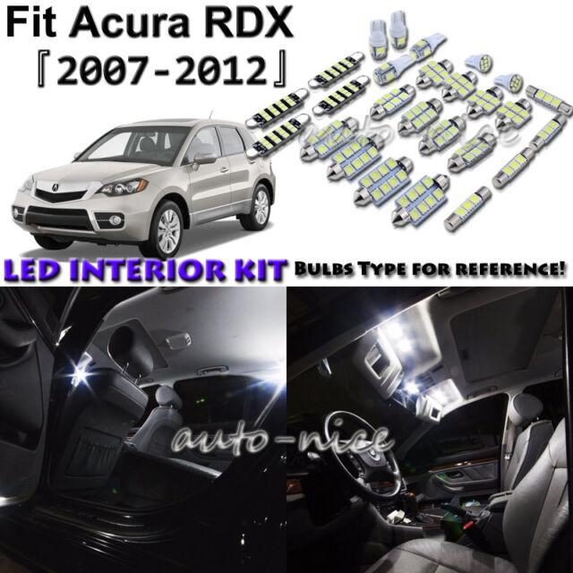 10x White LED Interior Lights Package Kit For 2007-2009