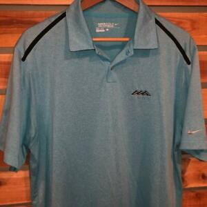 Mens-Light-Blue-Nike-Golf-Tour-Performance-S-S-Athletic-Polo-Shirt-Large