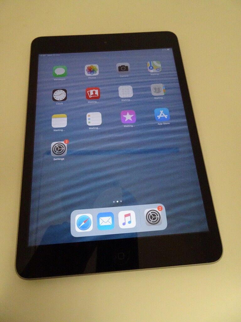 iPad: Apple iPad Mini 2, 7.9 Inch 16GB Wi-Fi Only – Space Grey – Used Read Desc – Y608