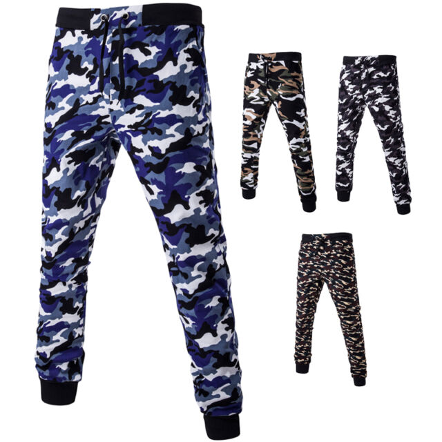 Fashion Men's Camouflage Casual Trousers Leggings New Tether Jogger Sports Pants