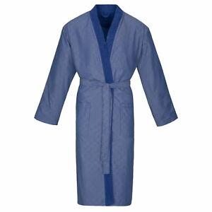 Vornehm Bugatti Herren Bademantel Saunamantel Kimono Form Marine Blau Giovanni Baumwolle Geeignet FüR MäNner Und Frauen Aller Altersgruppen In Allen Jahreszeiten