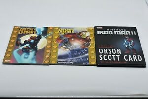 Ultimate Iron Man 1 & 2 and HC 2 (3 Book LOT) RARE-FREE FAST SHIP