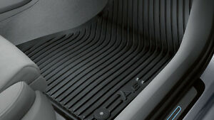 Original-Audi-A6-4G-C7-Gummimatten-Gummifussmatten-Set-vorn-hinten-schwarz