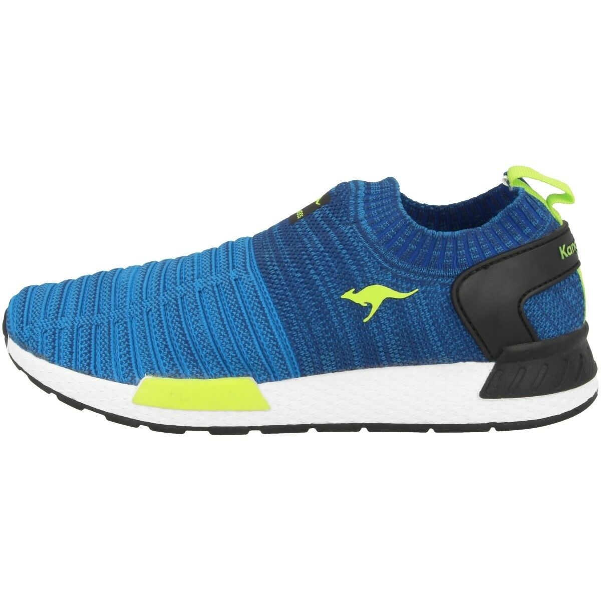 Kangaroos W-600 shoes Sport Casual Trainers Navy Lime 81050-4800