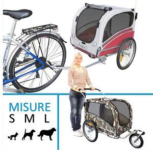 Rimorchio-bici-bicicletta-per-trasporto-cane-passeggino-trasportino-carrello-da