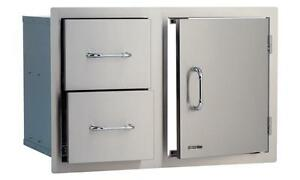 BULL-STAINLESS-STEEL-DOOR-DRAWER-COMBO-25876-NEW