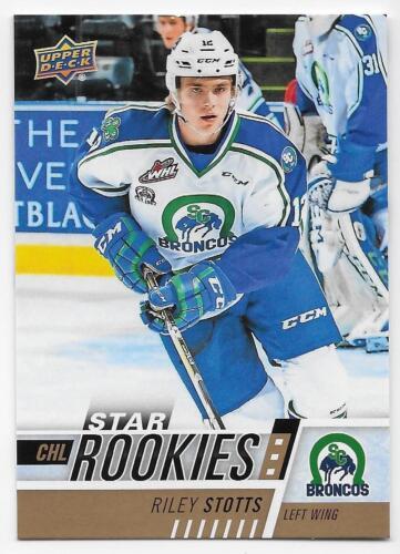 17//18 Upper Deck CHL star rookies SP Hockey para elegir de la lista #301-400