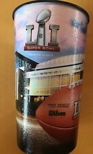 Super Bowl LI New England Patriots Atlanta Falcons 22 oz Reusable Plastic Cup