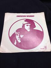 CARPENTERS- RAINY DAYS AND MONDAYS / SATURDAY 45 rpm P/S Picture Sleeve