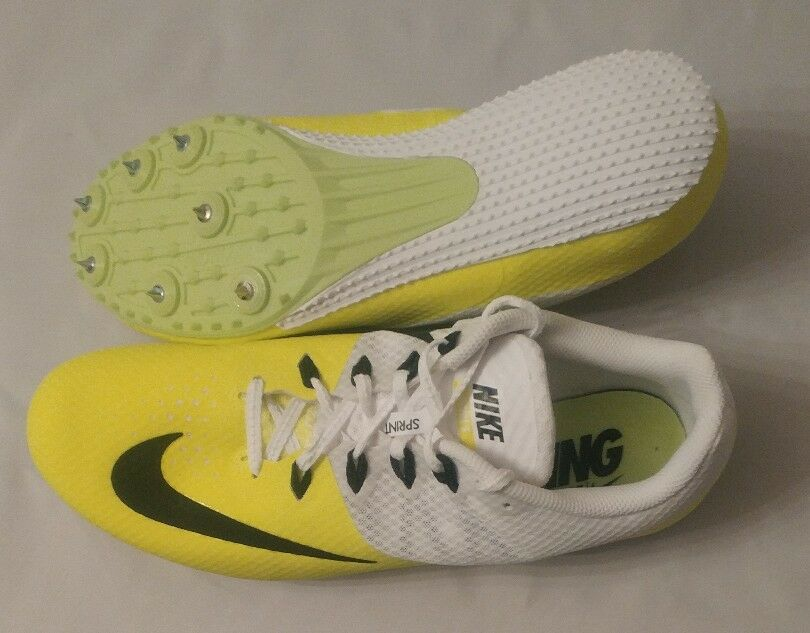 NIKE RIVAL S 8 Volt White Black Sz 11.5 Sprint Track Spikes Shoes Mens The most popular shoes for men and women