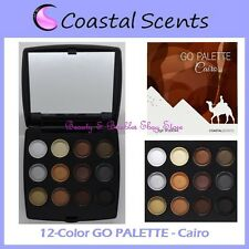 NEW Coastal Scents 12-Color GO PALETTE CAIRO Eye Shadow Compact FREE SHIPPING