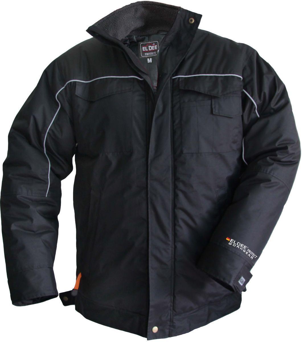 Très chaud men veste d'HIVER LILLEHAMMER classique black polyester