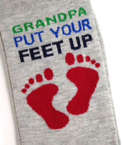 MENS GRANDPA PUT YOUR FEET UP GRANDAD SOCKS  UK SIZE 6-11 EUR 39-45 USA 7-12