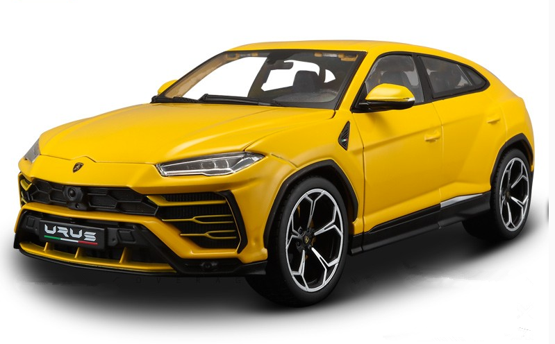 Bburago 1 18 Lamborghini Urus Urus Urus Diecast Model Car Toy Yellow New in Box 106b46
