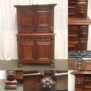 buffet noyer meuble 4 volets meubles anciens meubles 18 ieme si cle ebay. Black Bedroom Furniture Sets. Home Design Ideas