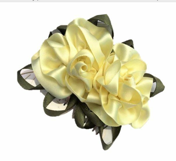 Yellow flowers handmade Hair comb