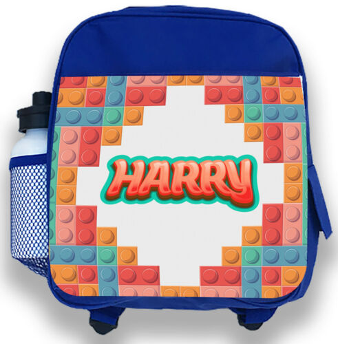 Personalised Kids Backpack Any Name Lego Boys Childrens Back To School Bag