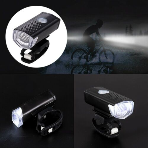 Waterproof USB Rechargeable LED Bicycle Bright Bike Front Headlight Lamp 3W