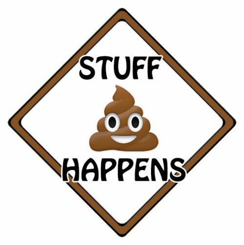 Poo Emoji Stuff Happens Poop Emoji Car Sign