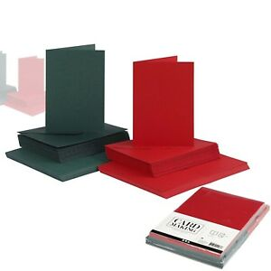 50 BLANK CARDS AND ENVELOPES CARD MAKING - A6 GREETING ART CARFT CARD COLOURED