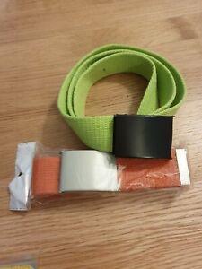 2-x-Mens-Canvas-Belts-Womens-Unisex-Adjustable-Buckle-Webbing-Belt