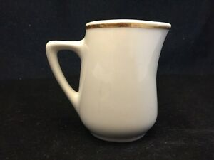 REGO-POTTERY-CREAMER-E597-K30-OFF-WHITE-WITH-GOLD-TRIM-NO-CHIPS-OR-CRACKS