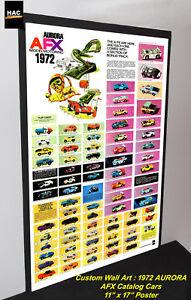 Custom-AFX-Wall-Art-AURORA-034-TJet-AFX-1972-Catalog-Cars-034-11W-x-17T-Hi-QA-POSTER
